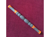 Deep Tissue Muscle Massager Roller Stick (Orange and Gray)