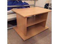 IKEA beech wooden shelving / TV base