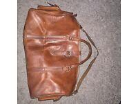 Lather vintage men's bag