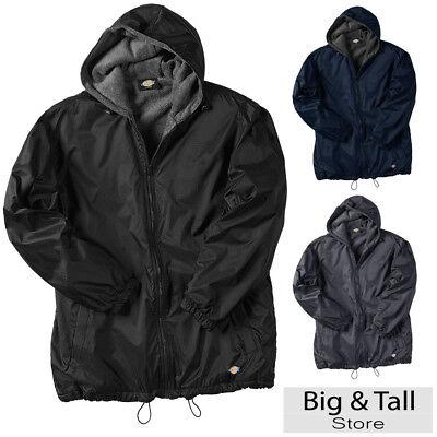 Big Men's Dickies Hooded Nylon Zip Jacket Fleece Lined 2XL 3