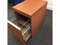 2 draw filing cabinet pedestal 74cm h x 47cm x 62cm