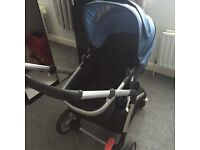 Blue mothercare roam pram
