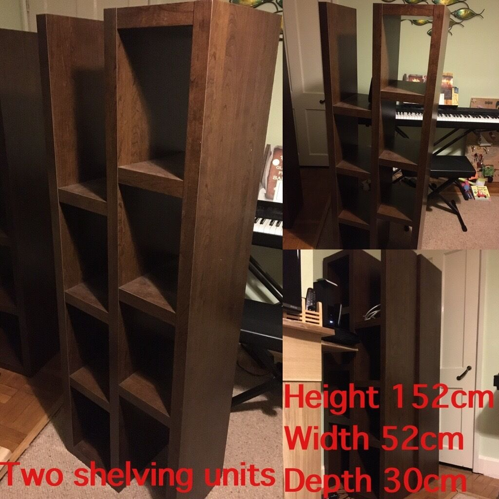 Next Dark Wooden Furniture Set Floor Box Shelves Tv Unit Coffee  # Meuble Tv Nesx