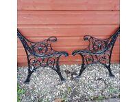 Cast Iron Vintage Garden Bench Ends