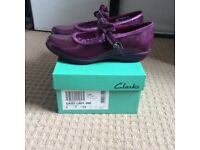 Clarkes girls shoes - Brand new with box - size 1 (Euro 33)