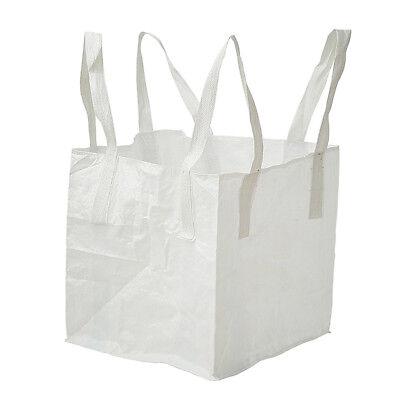 1 Ton Polypropylene FIBC Bulk Builders Bag Waste Storage Sack Spout Bottom