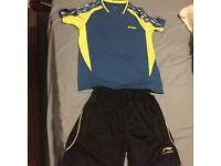 Badminton top and shorts suitable for uk size small or extra small used few times.