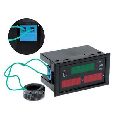 Volt Power Tester Ampere Meter With Current Transformer Ac 80-300v 100a
