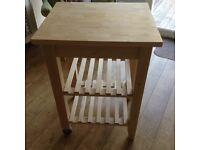 IKEA kitchen trolley (birch)