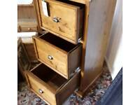 Barker and storehouse hand finished filing cabinet
