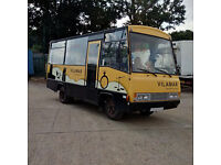 Left hand drive Toyota Dyna 300 3.0 diesel 6 tyres 20 seats bus. Seat belts.