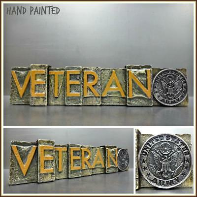 United States US ARMY VETERAN Military Hanging 3D Plaque Sign Gift Decoration