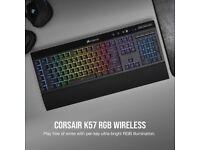 Corsair K57 RGB Wireless Gaming Keyboard 175 Hours Battery Life Black BRAND NEW!