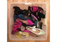 Box / bundle of women's / ladies shoes (Size 38 and Size 39 UK)