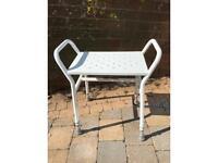 Shower stool seat - adjustable