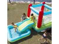 Inflatable bounce house ramp and pool. Never used.