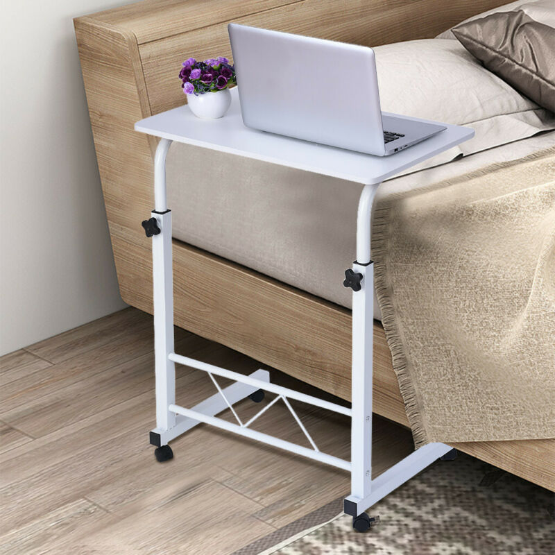 Mobile Laptop Desk Cart Stand Adjustable Computer Laptop Tab