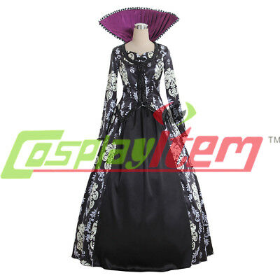 Once Upon A Time 3 Regina Mills Dress Costume Cosplay Halloween Costume Adult - Costume Regina