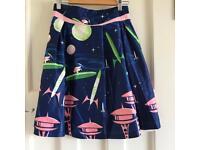 Lindy Bop Spaceship Skater Skirt