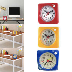 MagiDeal 3pcs Non Ticking Analog Alarm Clock with Nightlight and Snooze
