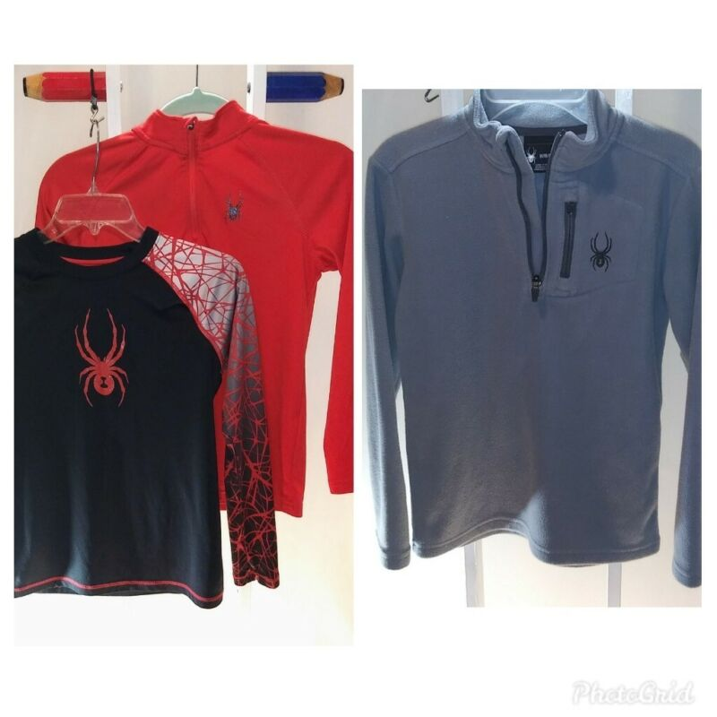 Spyder Brand Boys Med Shirts lot of 3