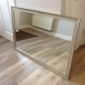 Large Mirror, Silver Frame