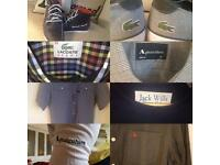 Men's tops and shoes