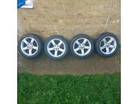 Bmw 3series 2014 17 inch alloys with dunlop flat run new tyres