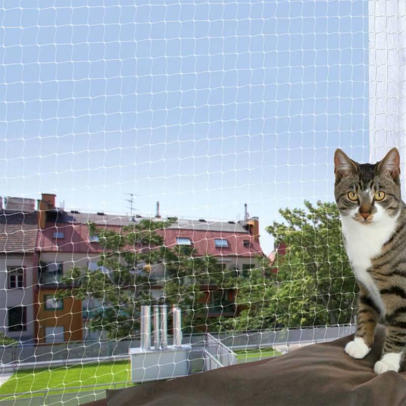 Katzenschutznetz mit Montage Befestigung transparent