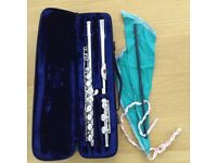 Trevor James TJ10xiii student flute in C ( with case ) silver plated