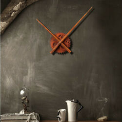 Creative Vintage Rust DIY Gear Wall Clock European Watch Home Decorative