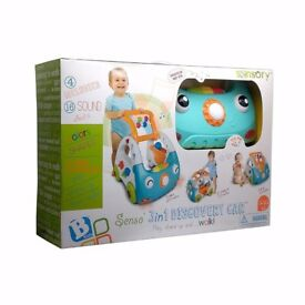 Sensory 3-in-1 Kids Discovery Car - Play, Stand Up and Walk-SEALED