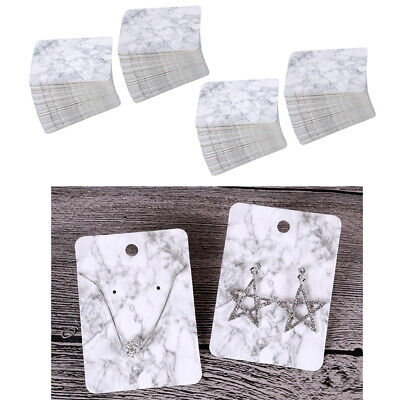 Pack Of 200 Unique Marble Pattern Styles Earring Cards For Jewelry Display