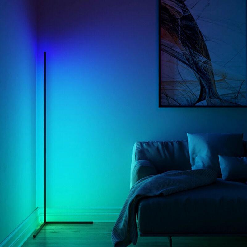 LED Corner Floor Lamp - - Minimalist Remote