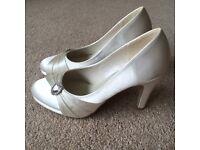 Ivory Wedding Satin Shoes