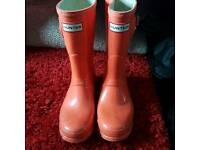 Orange size 4 hunter wellies