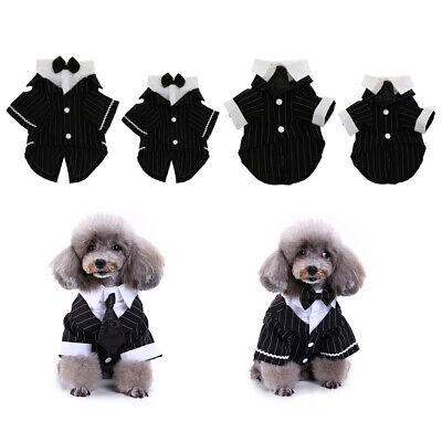 Cat Tuxedo Outfit (Handsome Pet Dog Cat Wedding Tuxedo Smart Suit Fancy Dress Costume)