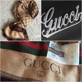 GUCCI cashmere/silk scarf unisex NEW!