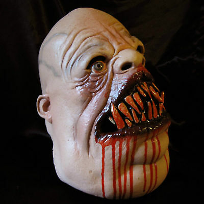 Meat Eater Fat Undead Meateater Zombie Scary Adult Latex Halloween Mask - Meat Eater Mask