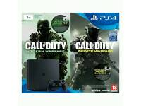 PS4 1tb Console. Brand new with Call of Duty legacy edition. Slim black.