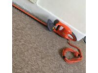 Hedge trimmers, quality make only been used a few times, still has blade cover.