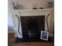 Silver cast iron fireplace - complete