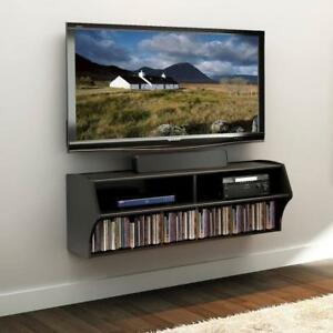 FREE shipping in Canada! Black Altus Wall Mounted Audio/Video Console by Prepac at Wholesale Furniture Brokers