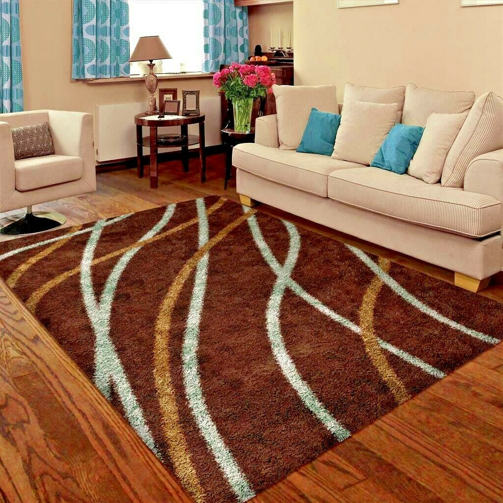 Details About Rugs Area Rug Carpet 5x7 Brown Living Room Modern Large Floor 5x8