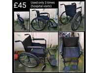 Wheelchair - great condition - used only 3 times for hospital visits