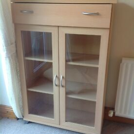 Excellent condition cabinet with glass doors