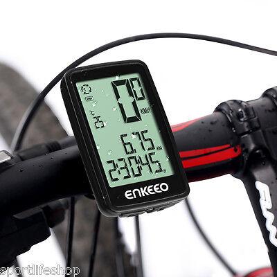 Funk Kabellos Fahrradcomputer Tachometer Fahrradtacho Kilometerzähler Temperatur online kaufen