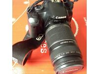 Canon 450D Camera with telephoto zoom lens Canon 55-250, battery, charger, memory card *BARGAIN*