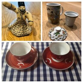 NEW Chinese & Turkish cups/saucers and mugs & FREE ornament
