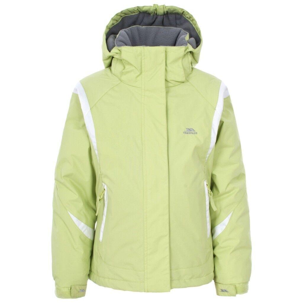 Ladies M Tresspass light green ski coat